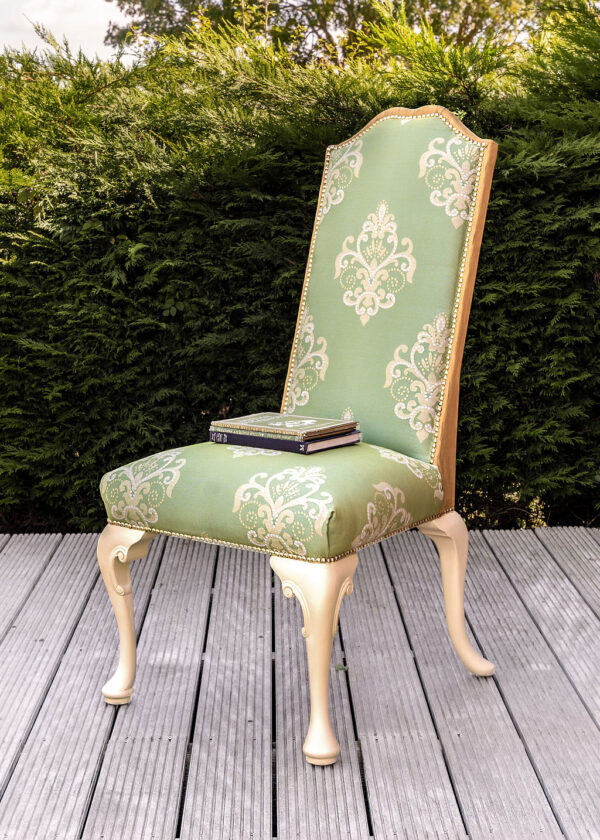 Bridgerton Regency style statement chair